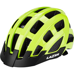 Lazer Compact Deluxe Fietshelm, flash yellow